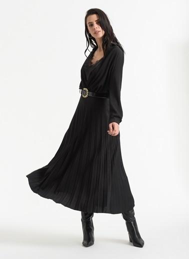 Styletag Pilili Etek Siyah